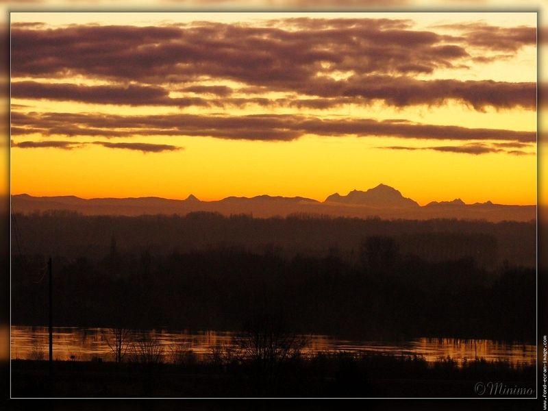 lever de soleil mont blanc